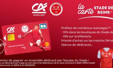 Activation – Le Crédit Agricole lance une carte bancaire aux couleurs du Stade de Reims